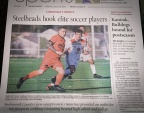 Steelheads featured on front page of Herald Sports